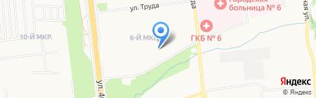 Средняя общеобразовательная школа №49 на карте Ижевска