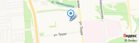 Солнце на карте Ижевска