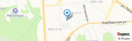 Автостоянка на ул. И. Закирова на карте Ижевска