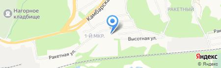 Студеный ключ на карте Ижевска