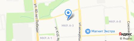 Лицей №41 на карте Ижевска