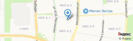 Иж на карте Ижевска