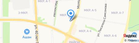 Экосад на карте Ижевска