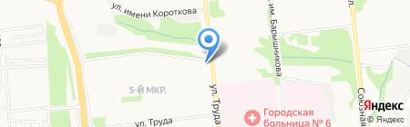 Рассвет на карте Ижевска