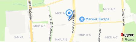 Молодежная на карте Ижевска
