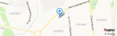 Сарапульский ликёро-водочный завод на карте Ижевска