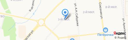 Красный на карте Ижевска