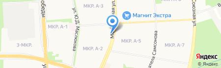 Магазин по продаже хлебобулочных изделий на карте Ижевска