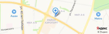Деньга на карте Ижевска