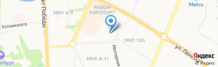Цифрал-Ижевск на карте Ижевска