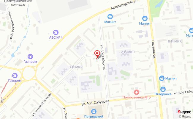 Карта расположения пункта доставки Пункт выдачи в городе Ижевск