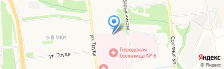 Городская клиническая больница №6 на карте Ижевска