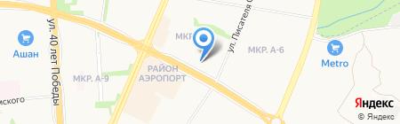Метелица на карте Ижевска
