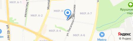 Жаворонок на карте Ижевска