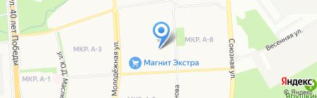 Баня №5 на карте Ижевска