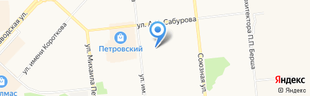 Детский сад №227 на карте Ижевска
