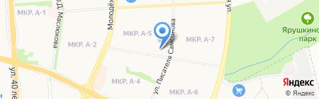 Татушка на карте Ижевска