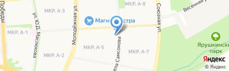 Алфавит на карте Ижевска