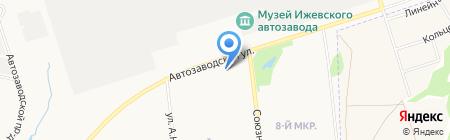 Цирюльник на карте Ижевска