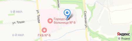 Республиканская детская клиническая инфекционная больница на карте Ижевска