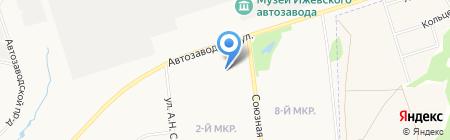 Сабурова 23а на карте Ижевска