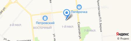 Любава на карте Ижевска