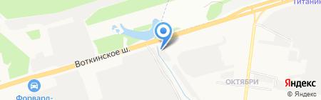 Аршинъ-М на карте Ижевска