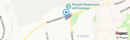 Золотая Стрекоза на карте Ижевска