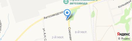 Куб на карте Ижевска