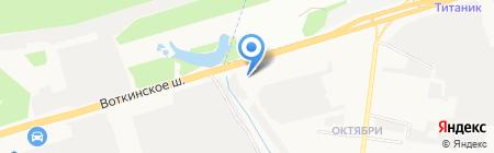 Спецгазавтотранс на карте Ижевска