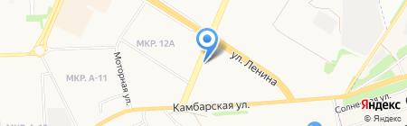 Спутник на карте Ижевска