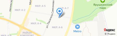 Авиатор на карте Ижевска
