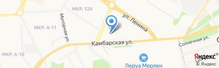 На Камбарской на карте Ижевска