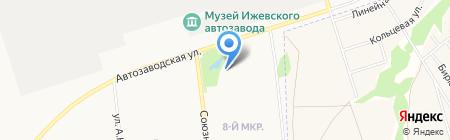 Восход на карте Ижевска