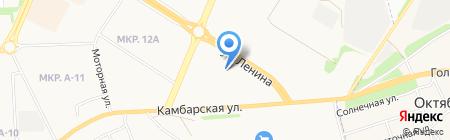 Иж-Лада на карте Ижевска