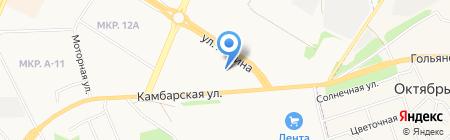 Грейт-Сервис на карте Ижевска