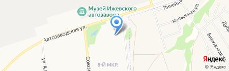 Автозаводской на карте Ижевска