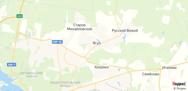 Ягул на карте