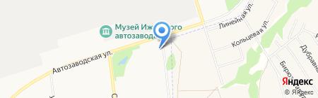 Автозоводская на карте Ижевска
