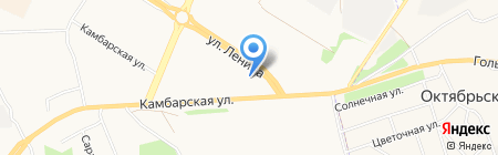 АЗС Камбарская на карте Ижевска