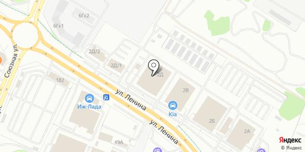 Toyota. Схема проезда в Ижевске