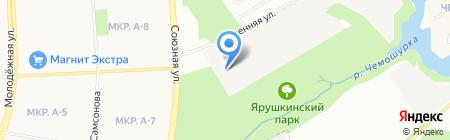 Буровик на карте Ижевска