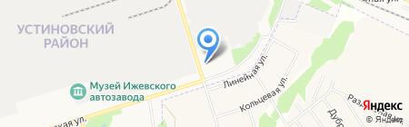 ИжТеплоСтрой на карте Ижевска