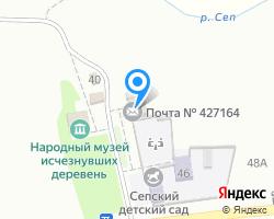 Схема местоположения почтового отделения 427164