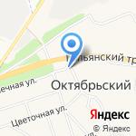 Октябрьский на карте Октябрьского