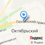 Юрга на карте Октябрьского