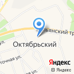 Онекси на карте Октябрьского