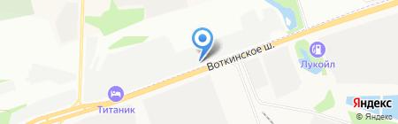 Автомобилист-1 на карте Ижевска