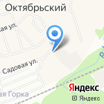 Магазин автотоваров на карте Октябрьского