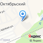Гараж на карте Октябрьского